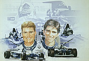 David Coulthard und Damon Hill tn
