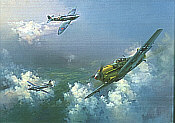 Frank Wootton: The Straggler, Me 109, Spitfire
