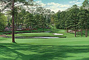 Linda Hartough Golfkunst: Augusta 15th