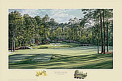 Linda Hartough Golf Art: Augusta 12th