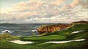 Linda Hartough Golfkunst - 8th Pebble Beach
